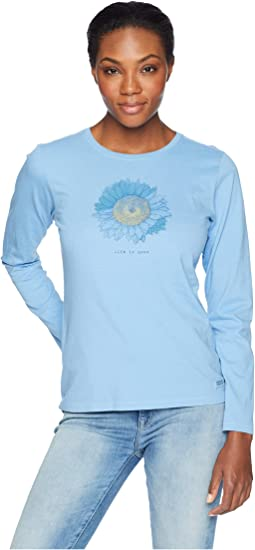Engraved Sunflower Crusher Long Sleeve T-Shirt