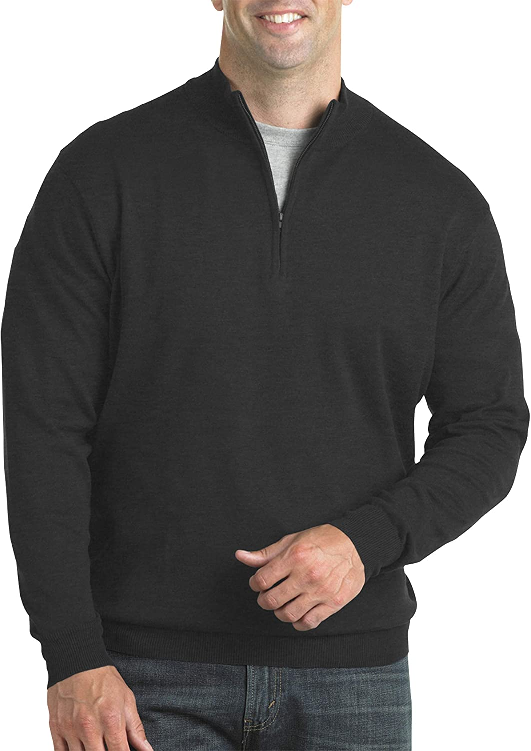 Harbor Bay High order by DXL Big Fees free Tall and Quarter-Zip Sweater Pullover