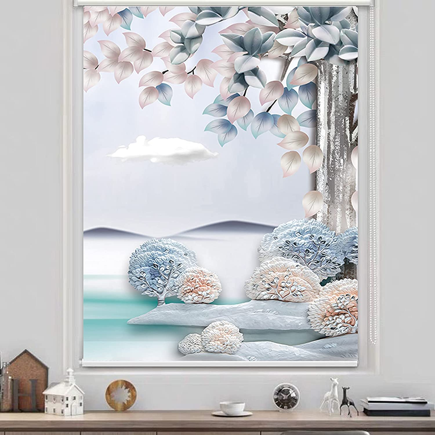 ZWLI Window Blind Manufacturer regenerated product Roller Complete Free Shipping UV Blackout 100% Shades