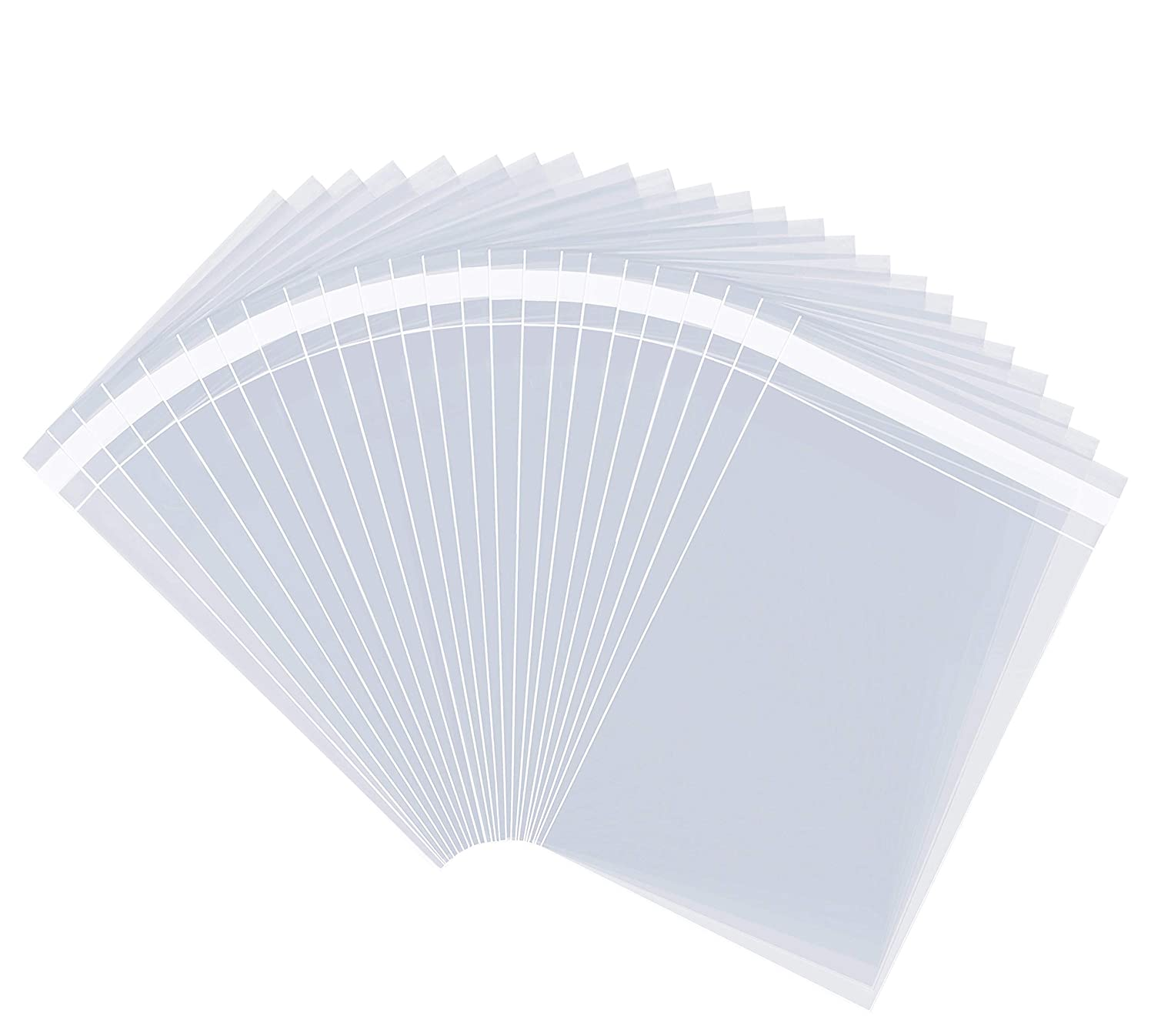 """8"""" X 10"""" (1000 Pack) Clear Resealable Cellophane Cello Bags Self Seal - Fits 8X10 Prints Photos Small Catalogs, Gifts, Arts & Crafts by Pack It Chic (More Sizes Available)"""