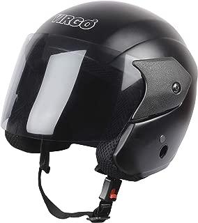 Virgo Open Face ARU Color Black Matt finish visor Tinted