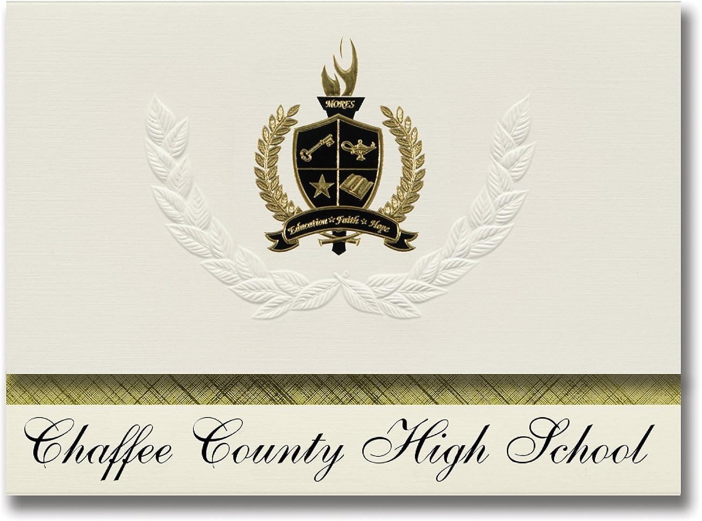 Signature-Ankündigungen von Cha County High School (Buena Vista, CO) CO) CO) Abschlussankündigungen, Präsidential-Stil, Grundpaket mit 25 Goldfarbenen und schwarzen metallischen Folienversiegelungen B079669TCS | Gewinnen Sie das Lob der Kunden  7060a7