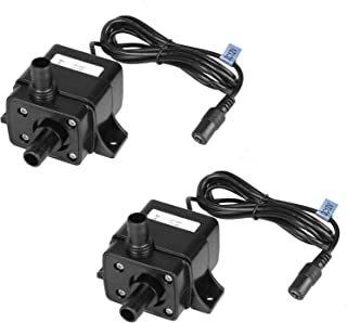 MOUNTAIN_ARK 2 Pack 63 GPH (240L/H) Submersible Water Pump DC 12V 3.6W 9.8ft Lift for Fish Tank Pumping, Rockery Water, Bo...