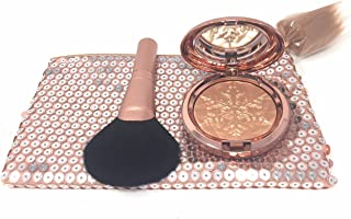 Mac Snow Ball Face Bag. 2017 Limited Edition Holiday Collection. Full Size Whisper of Guilt, Extra Dimension Skinfinish Powder, Synthetic Full Fan Brush and Glitter Sparkling Bag.
