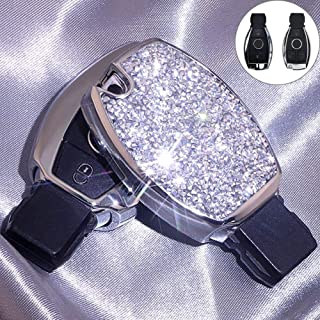 Royalfox(TM) Luxury 2/3 Buttons 3D Bling Diamond Girl Smart keyless Entry Remote Key Fob case Cover for Mercedes-Benz A C ...