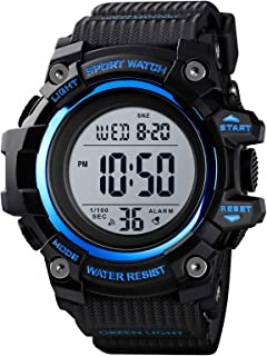 Andoer Men Digital Sports Watch Dual Time Mode Date Week Alarm Clock Backlight 5ATM Waterproof Male Fashion Watches Wristb...
