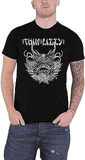 Thin Lizzy T Shirt China Town Band Logo Phil Lynott Official Mens Black