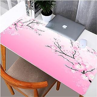 Desk mat Cherry Blossom Flower Design DIY Design Large ExtendedPink Mousepad Size 300mmX900mm Gaming Mat Mouse Pad (Color...