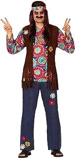 Da Uomo verde anni/'60 HIPPIE HIPPY FLOWER POWER Costume Vestito Taglia Large