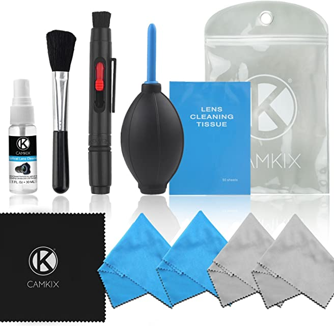 CAMKIX Cleaning Kit - Pack de Limpieza de Equipos fotográficos (Canon Nikon Pentax Sony) sin Fluido de Limpieza