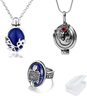 PPX The Vampire Diaries Daywalking Katherine Collana Pendente Collana con Ciondolo-Royal Blue e Vampire Diaries Anello di ...