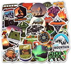 Water Bottle Stickers Wilderness Nature Stickers Outdoors Hiking Camping Travel Adventure Stickers Pack 50 Pcs Laptop Stickers Pack Decals for Ipad Cars Luggages