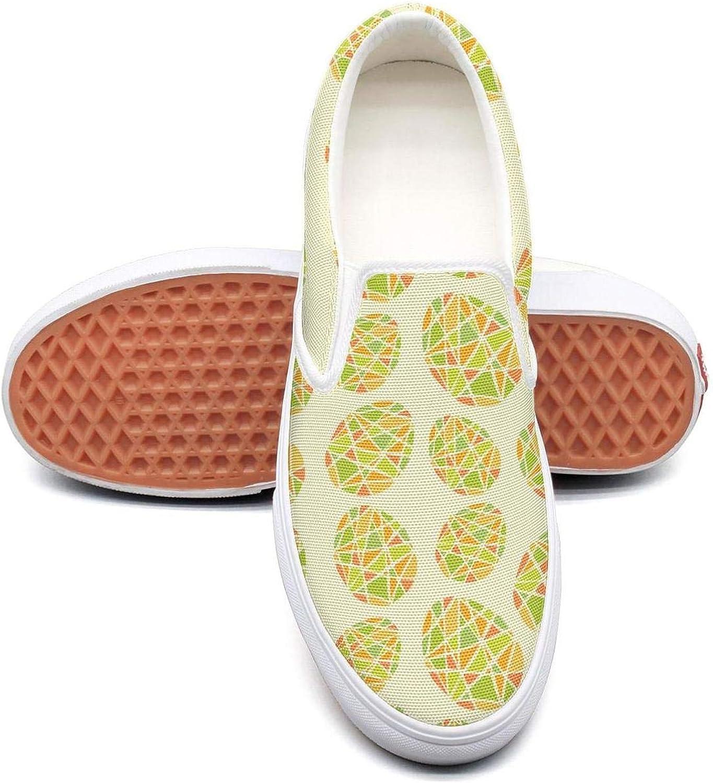 Uieort Cartoon Bird Egg Basket Womens Slip On Sneakers shoes Fashion