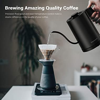 Elechomes Gooseneck Electric Kettle with LED Display, Precise Temperature Control & Hold, Unique Timer Set, Pour Over Cof