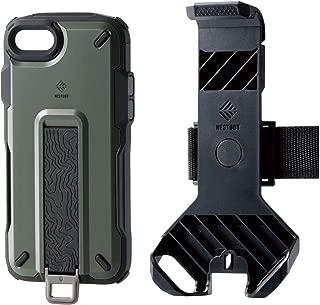 エレコム iPhone 8 / iPhone 7 ケース アウトドア NESTOUT Trekking 指を通せるベルト付 [すばやく着脱可能な専用ホルダー付属] オリーブ PM-A17MNESTTKH