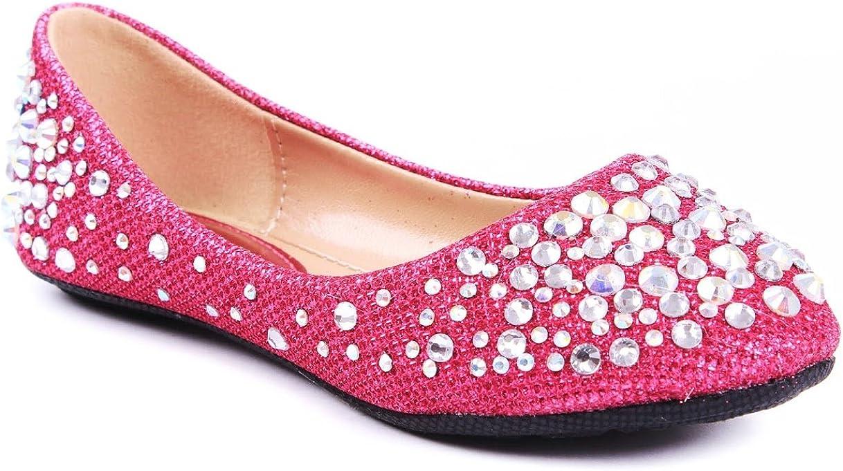 Larisa High quality Opening large release sale Kids Loafer Slip Rhinestone Ballet Fashion Glitter Flats