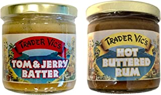 Trader Vic's Combo Pack Tom & Jerry Batter and Hot Buttered Rum Batter (Pack of 2)