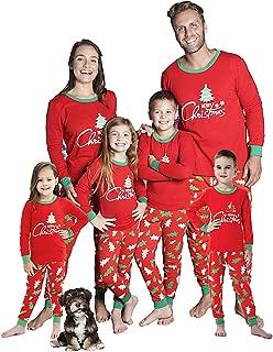 Christmas Family Matching Pajamas Xmas Tree Sleepwear Cotton Kids PJs