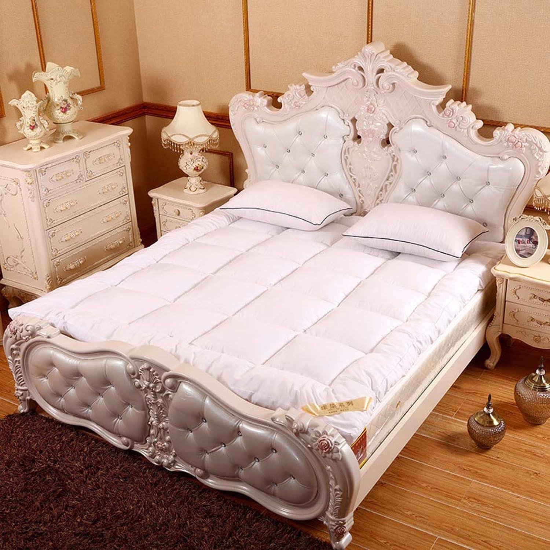 Sleeping Tatami Floor mat,Thick Soft Mattress pad Japanese futon Floor Rolling futon mattresses for Student Dormitory-White 90x200cm(35x79inch)