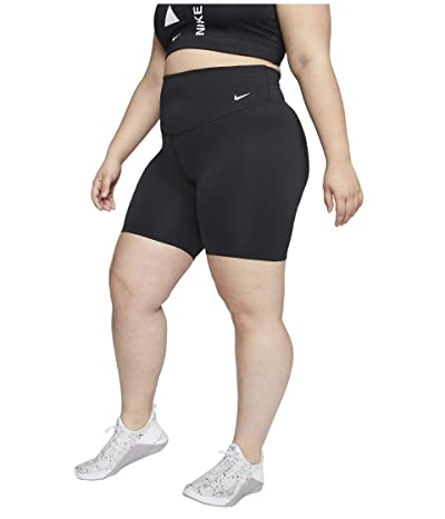 Nike Plus Size One 7 Shorts (Black/White) Women