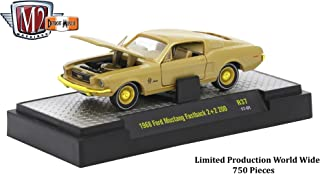 M2 Machines Limited Edition Gold Chase Piece 1968 Ford Mustang Fastback 2+2 200 - Detroit Muscle Release 37 2017 Castline Premium Edition 1:64 Scale Die-Cast Vehicle (1 of only 750)