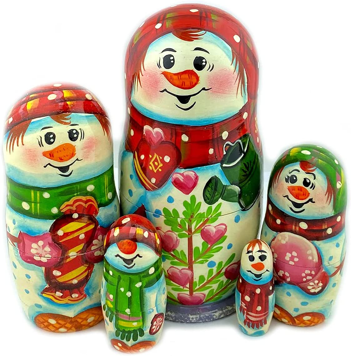 Snowman Nesting Dolls Christmas Decoration 100% quality warranty Kids Gift for Adu and High order