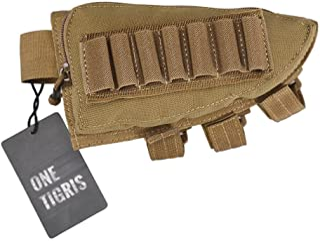 OneTigris Tactical Buttstock Shotgun Rifle Shell Holder Cheek Rest Pouch