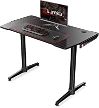 Eureka Ergonomic Carbon Fiber Texture Desktop Office Gaming Desks - Black