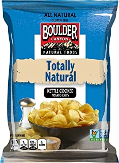 Boulder Canyon Kettle Cooked Potato Chips, Totally Natural, 2 Ounce (Pack of 24)
