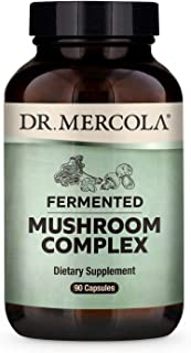 Dr. Mercola, Fermented Mushroom Complex Dietary Supplement, 30 Servings (90 Capsules), Supports Immune Health and Digestive Health Non GMO, Soy Free, Gluten Free