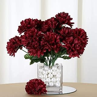 Efavormart 84 Artificial Chrysanthemum Mums Balls for DIY Wedding Bouquets Centerpieces Party Home Decoration Wholesale - Burgundy