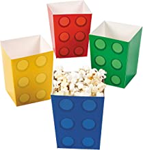 Fun Express Paper Color Brick Party Mini Popcorn Boxes (24 Count)