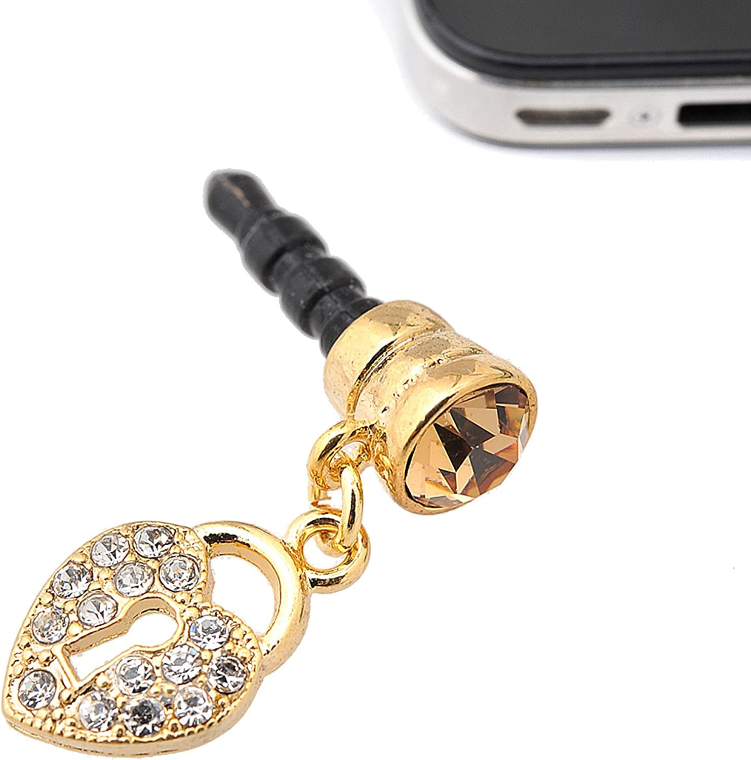 Spinningdaisy Crystal Lock Charm Anti Dust Plug OFFicial store Cover We OFFer at cheap prices Stopper