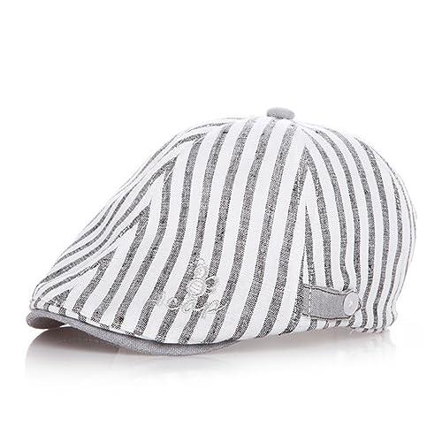 7f14f759 YIYI Baby Boy Flat Cap, Cotton Flat Beanie Hat Beret Cap for Toddler Boys  Kids