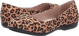 Tan Leopard Suedette