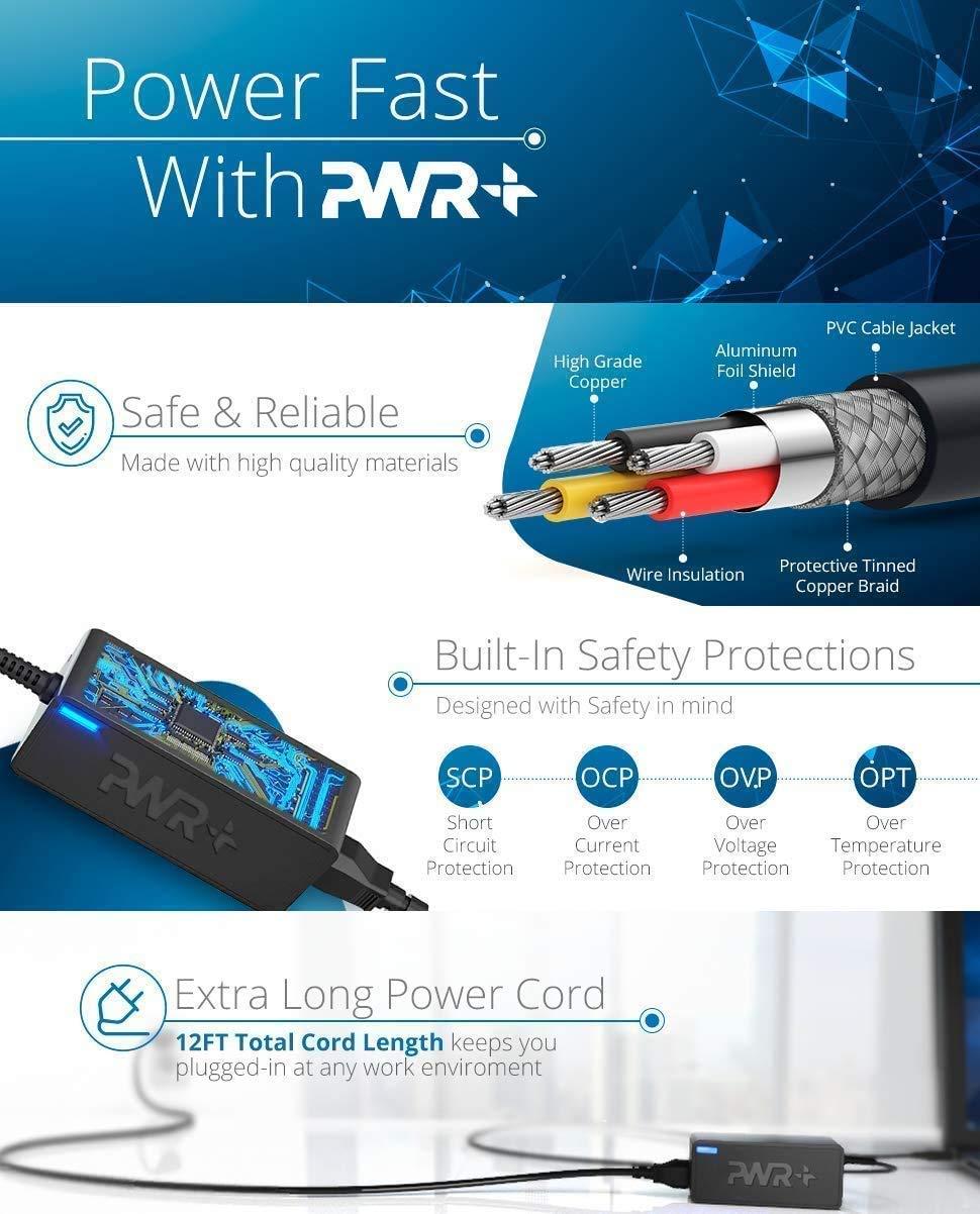 Pwr 19V Adaptador para Sony Bravia TV Cargador: UL Listed Extra Largo Fuente de Alimentación KDL-32 KDL-40 W650D W600D W600B W700B W800B; KDL48W650D KDL40W650D KDL-48W600B KDL32W600D KDL-40W600B: Amazon.es: Electrónica