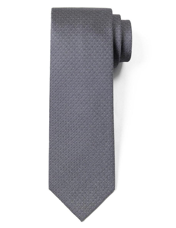 Origin Ties 100% Silk Textured Solid Color Men's Skinny Tie 2.5
