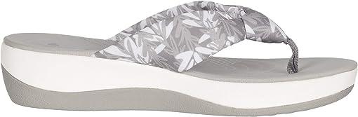 Grey/White Floral Textile