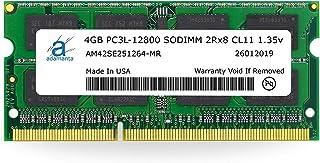 ذاكرة كمبيوتر محمول Adamanta 4GB (1x4GB) DDR3/DDR3L 1600Mhz PC3L-12800 SODIMM 2Rx8 CL11 1.35v RAM
