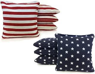 Tailgating Pros Johnson Enterprises Handmade Stars and Stripes 8 Regulation Cornhole Bags