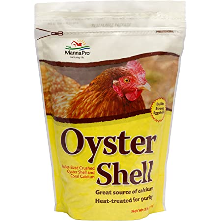 Manna Pro Crushed Oyster Shell | Egg-Laying Chickens | 5 LB