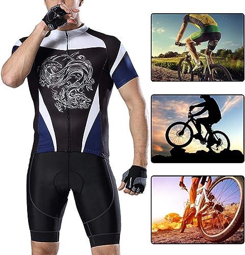 YILIFA Les Hommes Faisant du vélo Le Maillot, Les Chemises de vélo de vêteHommests de vélo de Pro Portent Le courte de Maillot de MTB,3XL