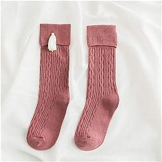 LiuQ, LiuQ Calcetines hasta Rodilla Niñas Calcetines para niños Algodón bebé Kid Kee High Socks Kid Princess Girls Socks Children Ropa Accesorios Niña (Color : Xiangpi Pink, tamaño : M 3 to 5T)