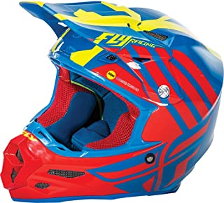 Fly Racing Unisex-Adult Full-face Style F2 Carbon Mips Zoom Helmet Blue/Red/Hi-Vis X-Small