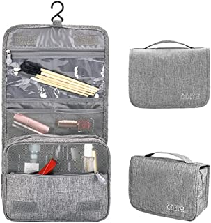 Travel Toiletry Bag hanging travel bag portable waterproof toiletries with clear cosmetic make up organizer kit for women man baby family for travel vocation business(Grey)