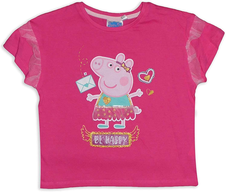 Peppa Pig Girls Cotton Short Sleeve T Shirt