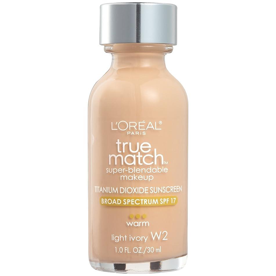L'Oreal Paris Makeup True Match Super-Blendable Liquid Foundation, Light Ivory W2, 1 fl. oz.