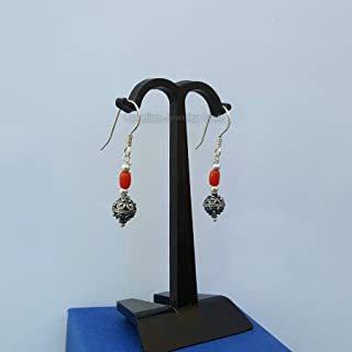 Mediterranean Red Coral Earrings, Croatian Earrings, Dubrovnik Earrings, Filigree Ball Earrings *Exp Shipping
