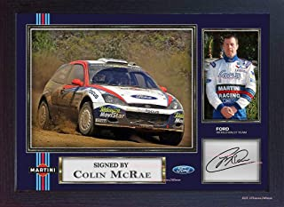S&E DESING Colin McRae Ford World Rally Team Signed Autograph Photo Print Framed