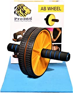 PRO365® Ab Trainer Carver/Ab Roller for Home Gym/Equipment for Core Workout/ (6MM Knee Safe Mat)